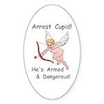 Arrest Cupid Oval Sticker