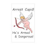 Arrest Cupid Rectangle Sticker