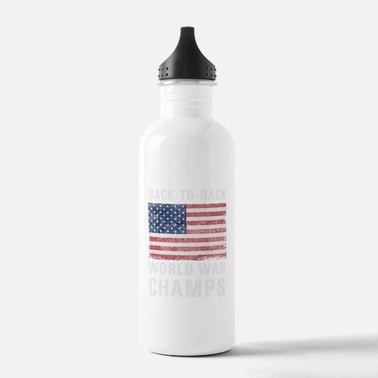 Back to Back World War Water Bottle