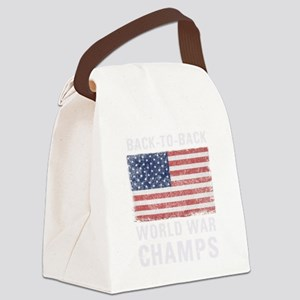 Back to Back World War Champs Canvas Lunch Bag