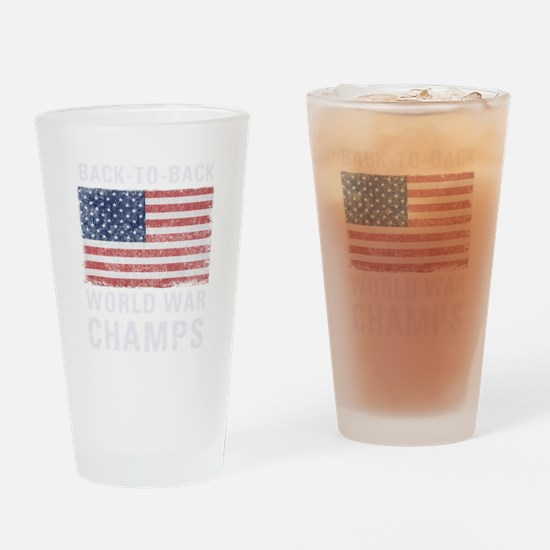 Back to Back World War Champs Drinking Glass