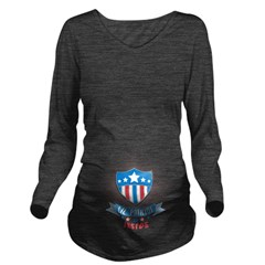 Lil Patriot Inside Long Sleeve Maternity T-Shirt