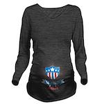 Lil Patriot Inside Long Sleeve Maternity T-Shirt