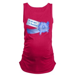Do Not Open Til Hanukkah Maternity Tank Top