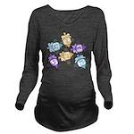 Dreidels Long Sleeve Maternity T-Shirt