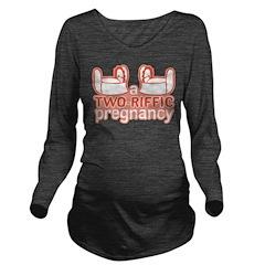 Two-Riffic Pregnancy Long Sleeve Maternity T-Shirt