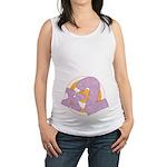 x2 Purple and Orange Maternity Tank Top