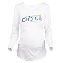 Double Trouble Double Fun Long Sleeve Maternity T-