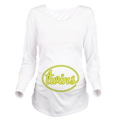 Twins Circle Long Sleeve Maternity T-Shirt