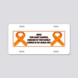 CRPS, most painful disease Aluminum License Plate