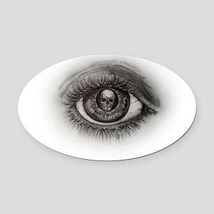 Eye-d Oval Car Magnet
