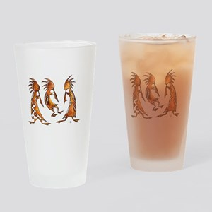 3 Kokopeli in Watercolor Drinking Glass