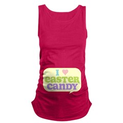 I Heart Easter Candy Maternity Tank Top