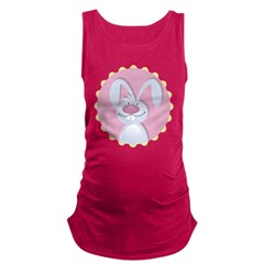 Funky Easter Bunny Maternity Tank Top
