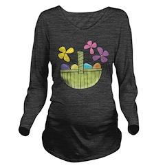 Easter Basket Long Sleeve Maternity T-Shirt