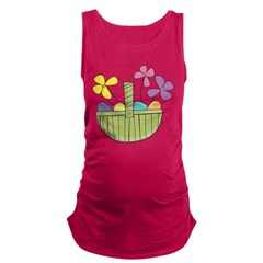 Easter Basket Maternity Tank Top