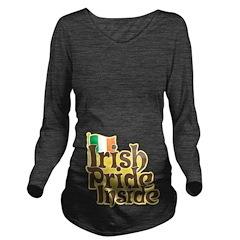 Irish Pride Inside Long Sleeve Maternity T-Shirt