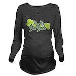 Kiss Me Im Irish Long Sleeve Maternity T-Shirt