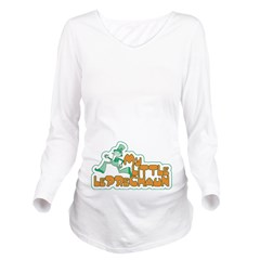 My Little Leprechaun Long Sleeve Maternity T-Shirt