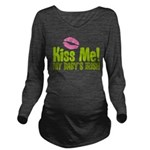 Kiss Me My Babys Irish Long Sleeve Maternity T-Shi