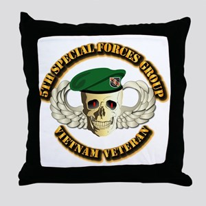 5th SFG - WIngs - Skill Throw Pillow