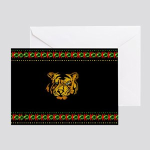 Tiger In Darkness Greeting Card