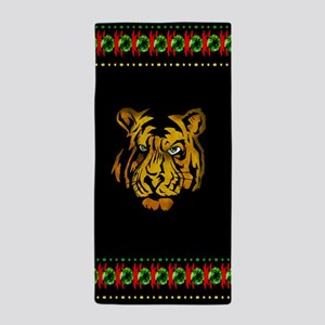 Tiger In Darkness Beach Towel