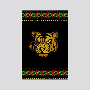 Tiger In Darkness Rectangle Magnet