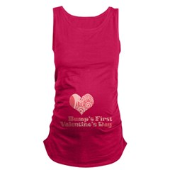 Bumps First Valentines Day Maternity Tank Top