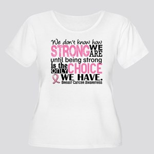 Breast Cancer Women's Plus Size Scoop Neck T-Shirt