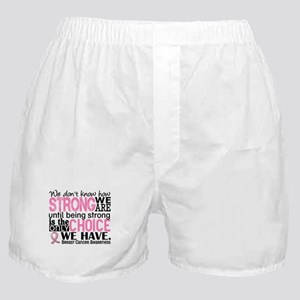 Breast Cancer HowStrongWeAre Boxer Shorts