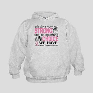 Breast Cancer HowStrongWeAre Kids Hoodie