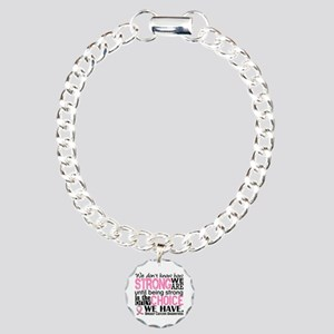 Breast Cancer HowStrongW Charm Bracelet, One Charm