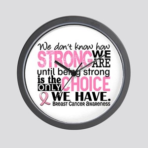 Breast Cancer HowStrongWeAre Wall Clock