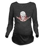 Rock Mom Skull Long Sleeve Maternity T-Shirt