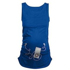 Mp3 Headphones Maternity Tank Top