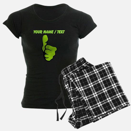 Custom Green Thumbs Up Pajamas