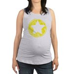 Yellow Emo Star Maternity Tank Top