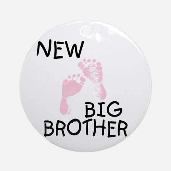 New Big Brother (pink) Ornament (Round)