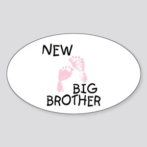 New Big Brother (pink) Oval Sticker