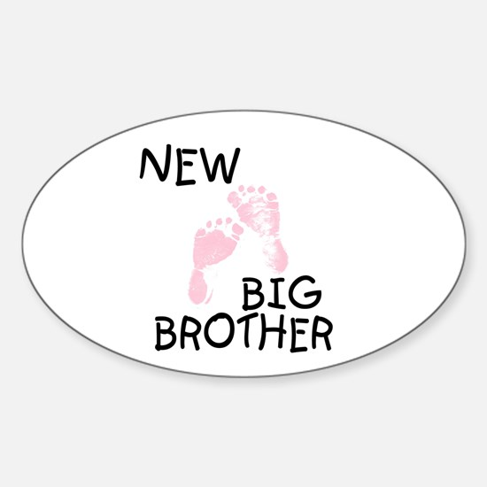 New Big Brother (pink) Oval Decal