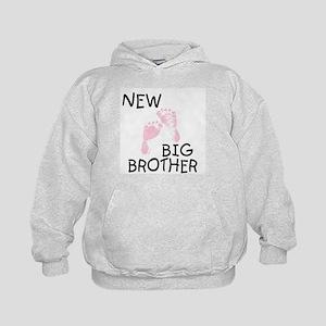 New Big Brother (pink) Kids Hoodie