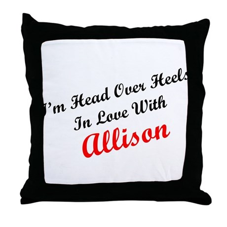 In Love with Allison Throw Pillow