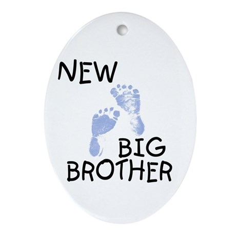 New Big Brother (blue) Oval Ornament
