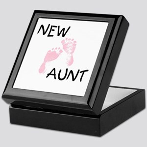 New Aunt (pink) Keepsake Box