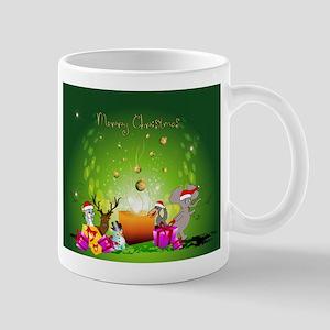 Cute cartoon christmas background Mugs
