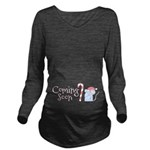 Coming Soon Christmas Mouse Long Sleeve Maternity
