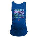 Colorful Mommy and Santa Maternity Tank Top