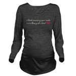 Mommy Kissed Santa Long Sleeve Maternity T-Shirt