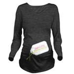 Mommys Christmas Miracle Long Sleeve Maternity T-S